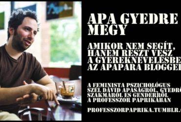 Apa gyedre megy: Szél Dávid von Apapara @ Profpaprika